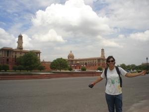 Quadra dos poderes indianos - parlamento indiano em Nova Délhi.